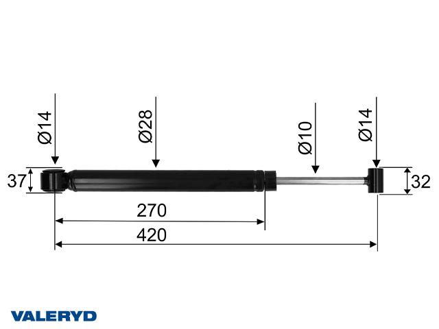 Påskjutsdämpare passar till AL-KO 2,8VB;351VB CC=415