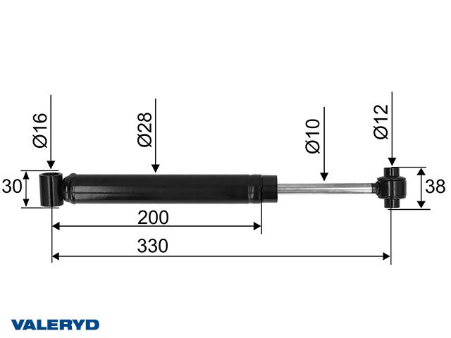 Påskjutsdämpare passar till AL-KO 131 R -92, CC=330