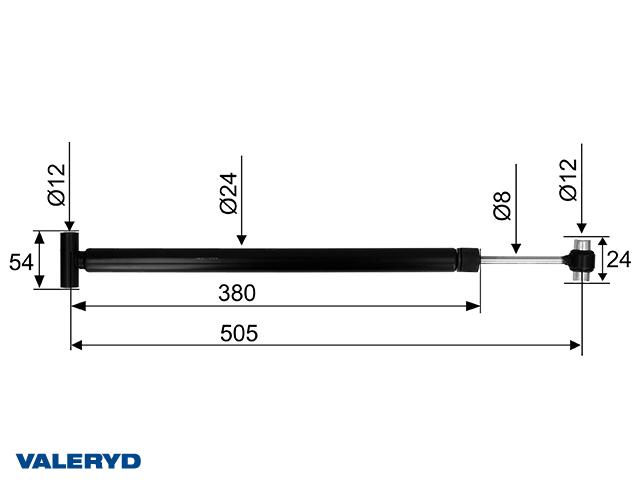 Påskjutsdämpare AL-KO 131R/161S utf. B/C; 1993-  original 583528; CC=505