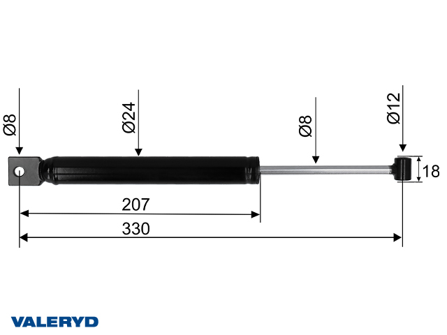 Påskjutsdämpare PAV/SR 2,7 MX CC=330