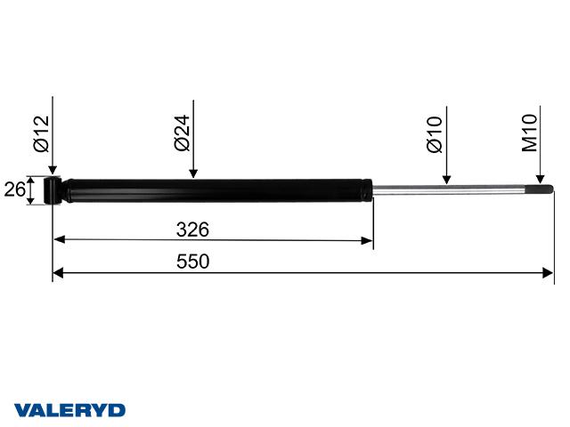 Påskjutsdämpare GTA 1,3 CC=515