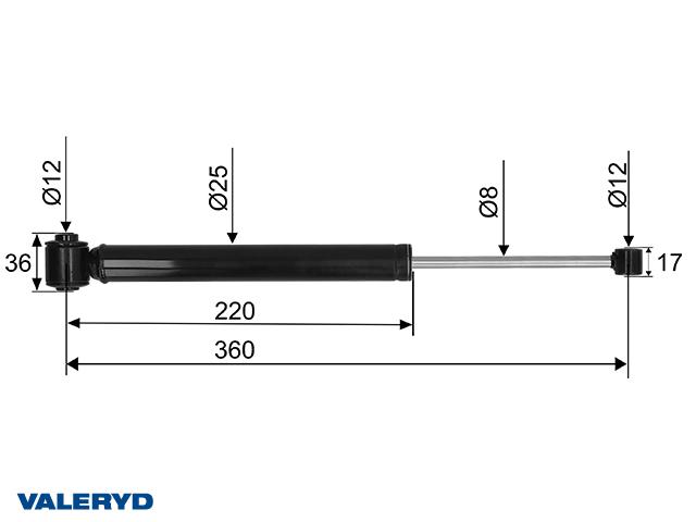 Påskjutsdämpare Hahn AER-2K 20.1 S54 CC=360