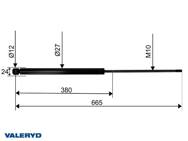 Påskjutsdämpare passar till Schlegl SFV 25 30 CC=665