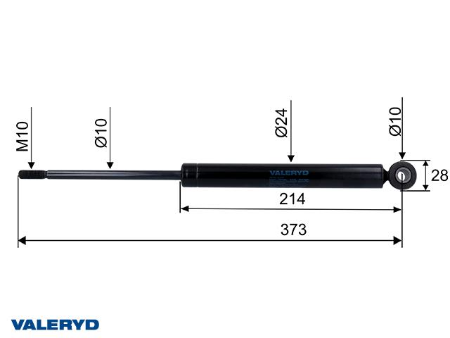 Påskjutsdämpare passar till OMC 750 - 1300 Kg, CC=373