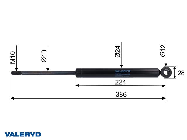 Påskjutsdämpare passar till OMC 1800 - 2500 Kg 10mm 302114