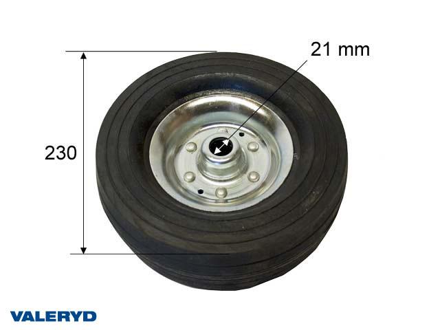 Reservhjul 230x70 Hål Ø21 mm