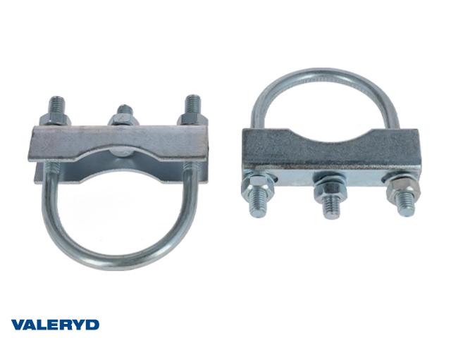 Monteringsats till stödhjulsklämma rör 60/70mm (2-pack)