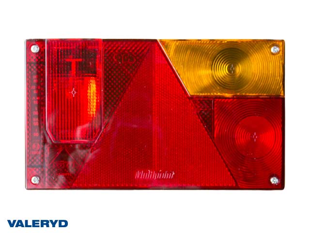 Baklampa Aspöck Multipoint Hö 240x140x52 reflex, skyltbelysning. Bajonettansl. 4(5)pol.