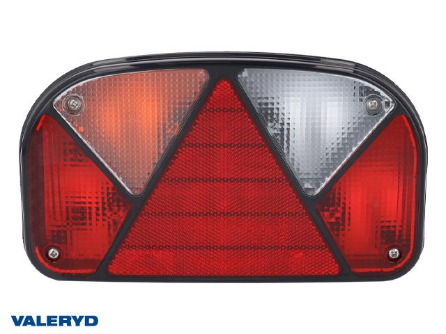Baklampa Aspöck Multipoint 2 Hö 240x140x52 Skyltbel på sidan, backljus, reflex. Kabelgenomföring
