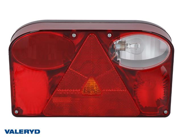 Baklampa Hö 238x138x55 reflex, skylt- och backljus. Bajonettanslutning