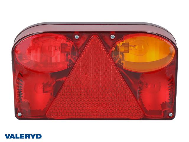 Baklampa Hö 238x138x55 med dimljus, bajonettanslutning 5-pol. inkl glödlampor