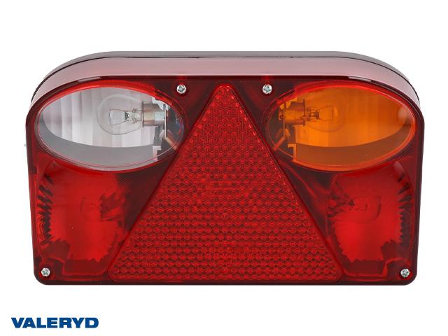 Baklampa Hö 238x138x55 med backljus, bajonettanslutning 5-pol. inkl glödlampor