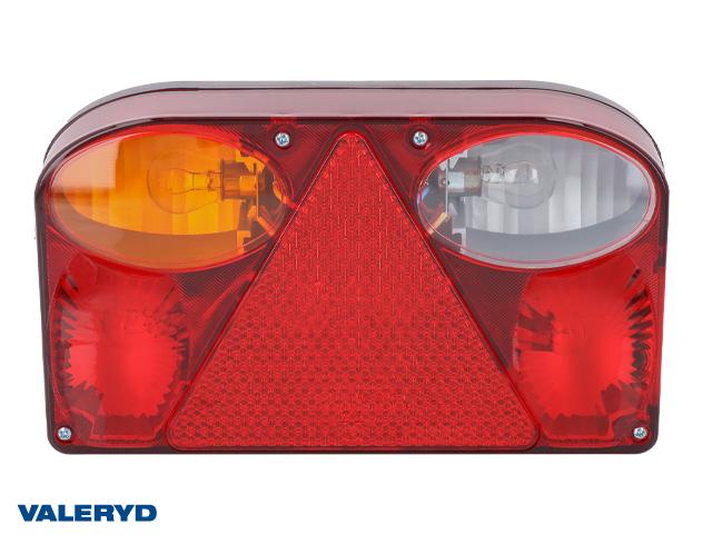 Baklampa Vä 238x138x55 med backljus, bajonettanslutning 5-pol. inkl glödlampor