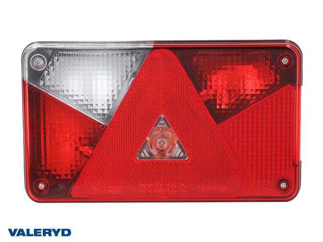 Baklampa Aspöck Multipoint 5 Vä 238x140x55, kabelgenomföring på baksidan