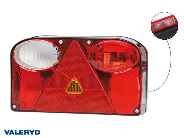 Baklampa Vä 238x138x55 reflex, skylt- dim- och backljus. 7-pol AMP anslutning
