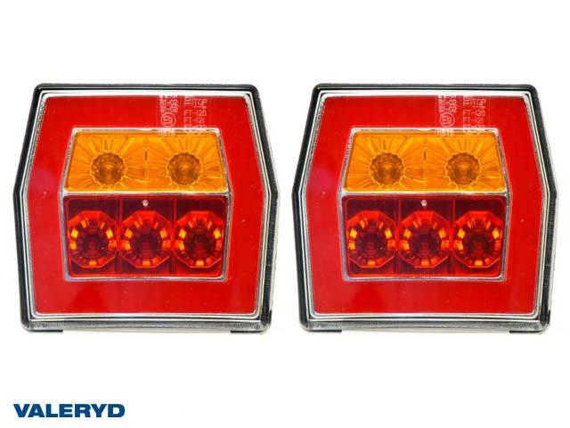 LED Baklampa Hö/Vä 99,5x93x39,5; 12-24V Bajonettanslutning (2-pack)