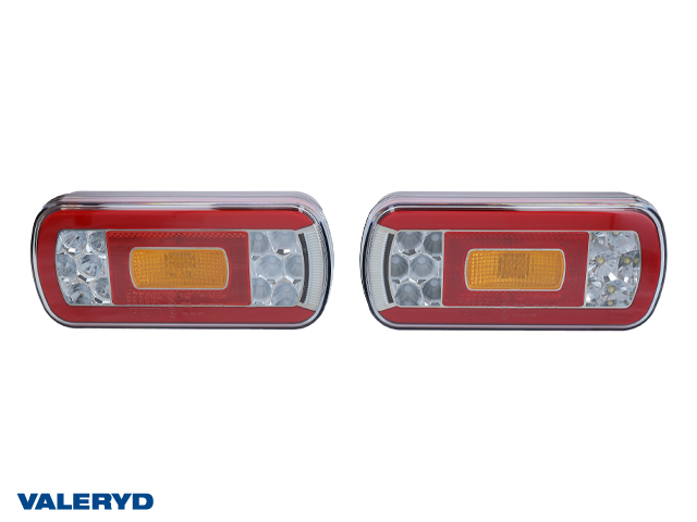 LED Baklampa Hö/Vä 220x100x50,5 (2-pack) reflex, skylt-, dim- och backljus. Bajonett 5-pol.