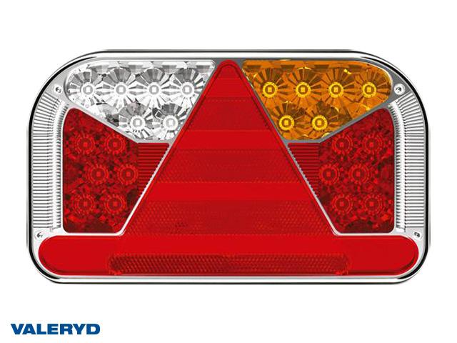LED Baklampa Hö 240x140x55 12/24V reflex, skylt-, dim- och backljus. Bajonettanslutning 6-pol