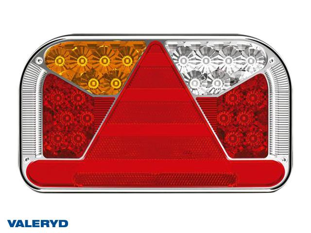 LED Baklampa Vä 240x140x55 12/24V reflex, skylt-, dim- och backljus. Bajonettanslutning 6-pol.