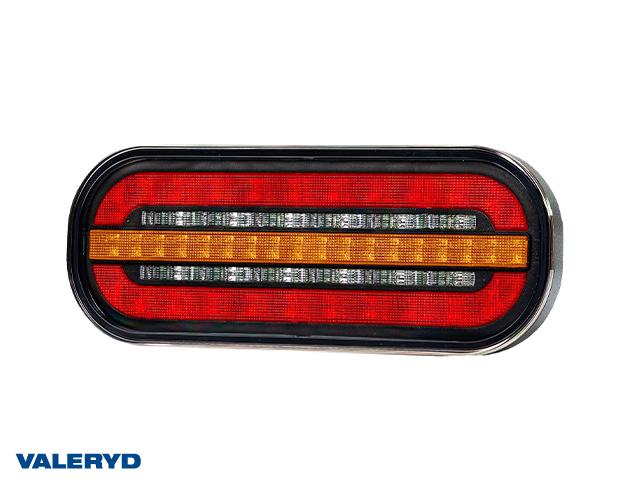 LED Baklampa Hö/Vä 195x75x35 12/36V Bajonettanslutning 5-pol