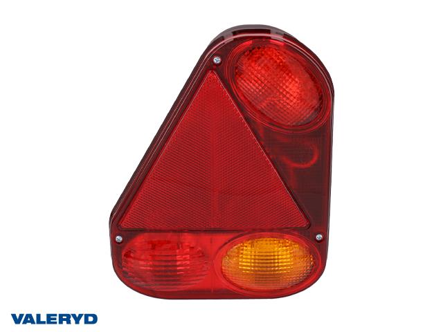 Baklampa Radex 2900 Vä 230x180x62 med skyltbelysning och dimljus. Bajonettanslutning