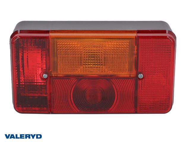 Baklampa Radex 5001S Vä 190x100x60 med skyltbelysning och dimljus