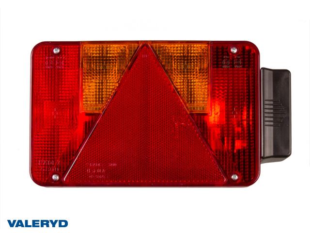 Baklampa Radex 5800 Vä 220/250x140x60 med skyltbelysning och dimljus. Bajonettanslutning