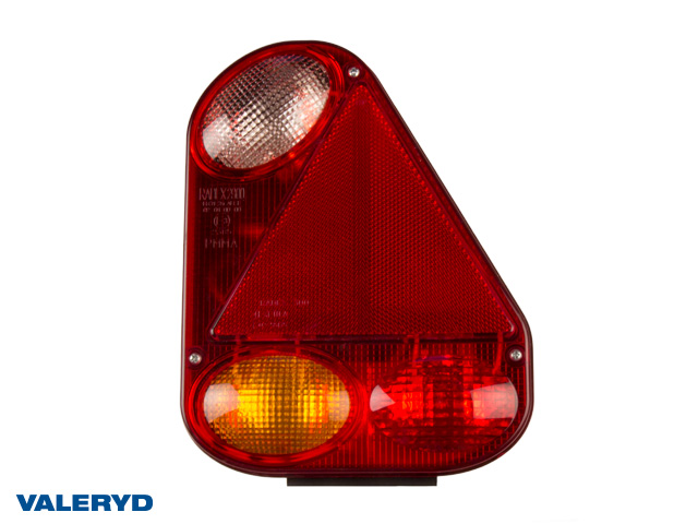 Baklampa Radex 2900 Hö 230x180x62 med skyltbelysning och backljus. Bajonettanslutning