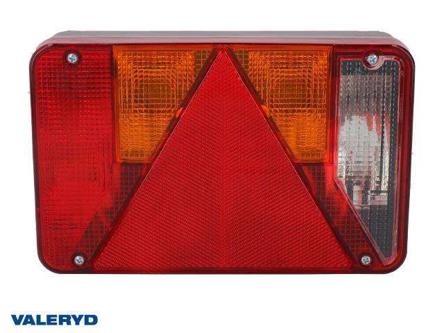 Baklampa Radex 5800 Hö 220x140x60 med skyltbelysning och backljus. Bajonettanslutning