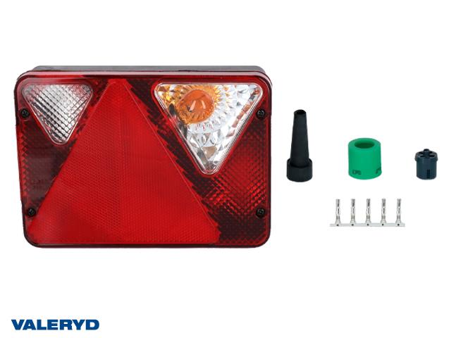 Baklampa Ajba Hö 190x135x50 med skyltbelysning och backljus.Bajonettanslutning