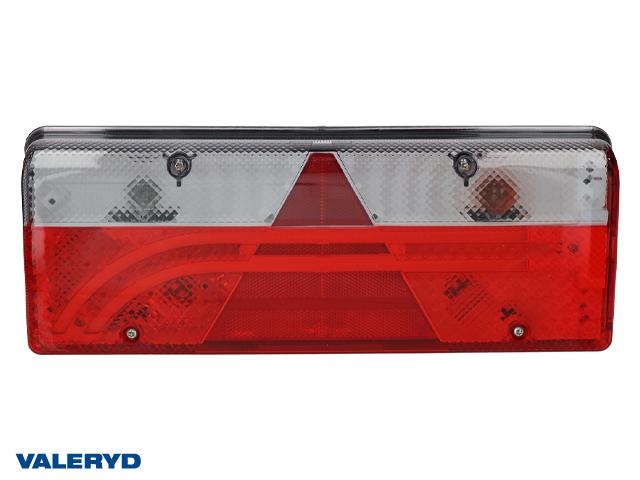 LED Baklampa Aspöck Europoint III Hö 400x153x88mm reflex, dimljus, 7 pol. ASS2.1