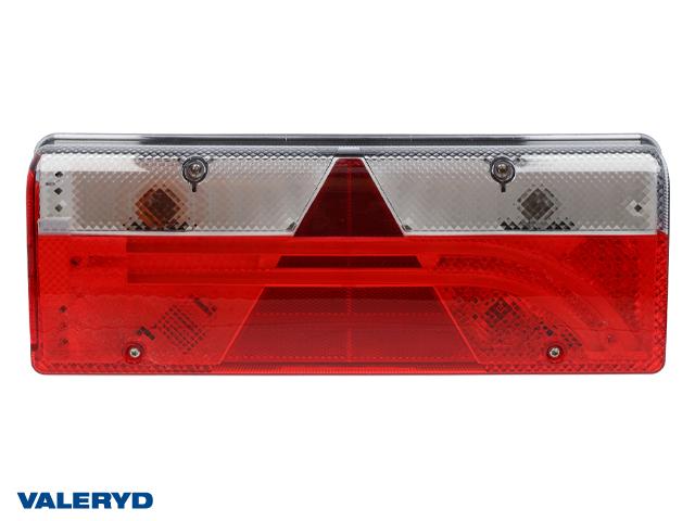 LED Baklampa Aspöck Europoint III Vä 400x153x88mm reflex, dimljus, 7 pol. ASS2.1
