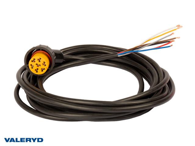 Adapter Aspöck Vä gul 7-pol. till ASS2 5m kabel