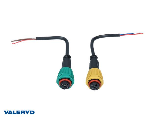 Adapter Aspöck/Fristom från bajonett till lös 4+5-polig kabel, 200mm (2-pack)