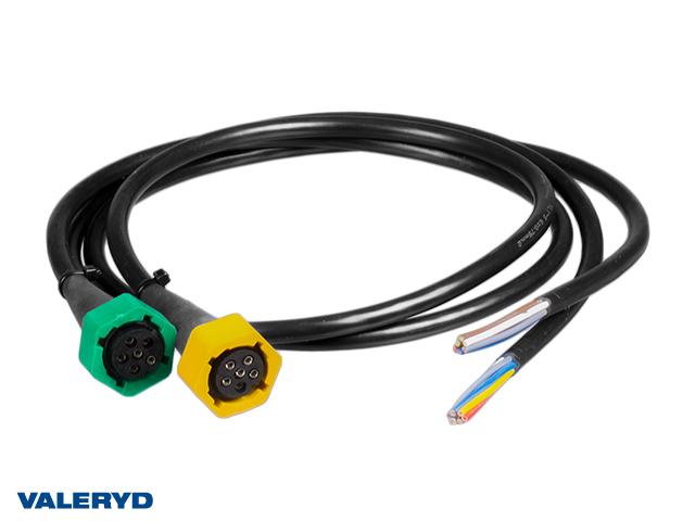 Adapter Aspöck/Fristom från bajonett till lös kabel, 6-pol vänster/höger, 1m kabel (2-pack)