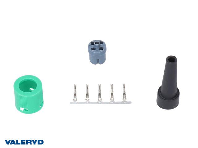 Bajonettkontakt Ajba/Jokon 5-pol höger/grön, invändig låsning