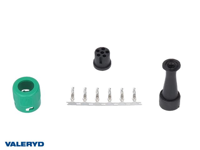 Bajonettkontakt Jokon 6-pol höger/grön, invändig låsning