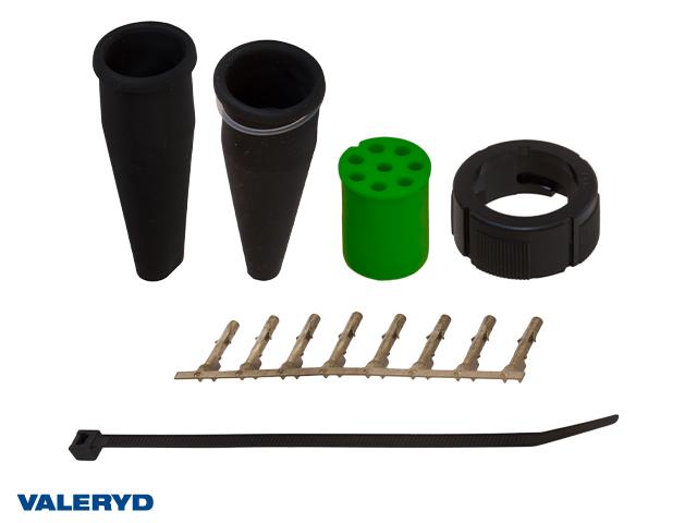 Bajonettkontakt Aspöck 8-pol höger/grön, invändig låsning