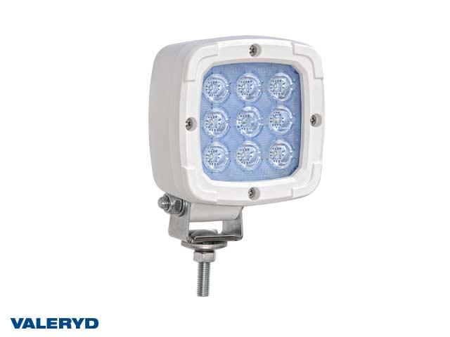 LED Arbetslampa vitt hölje 100x100x74, skruvfäste