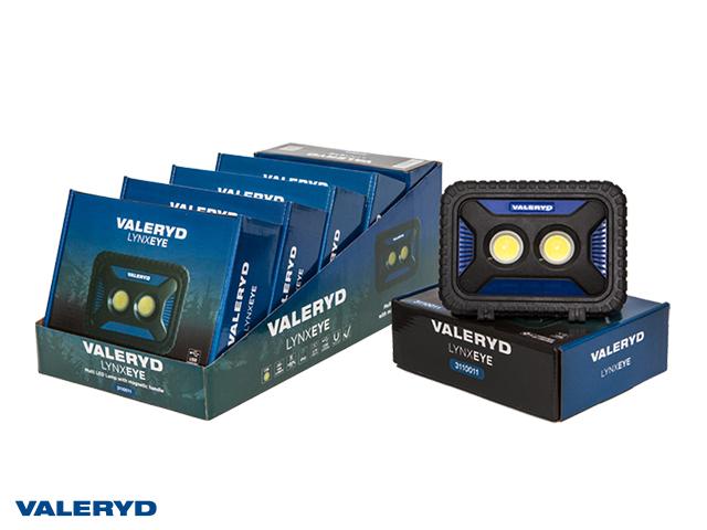 Multi LED Arbetslampa Valeryd med magnethandtag 170x105x45mm 1000Lm Uppladdningsbar (6-pack)