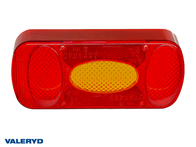 Spare lens fits Aspöck Midipoint II Left Tail light 218x98x57 with fog light. (for 3010042 & 43)
