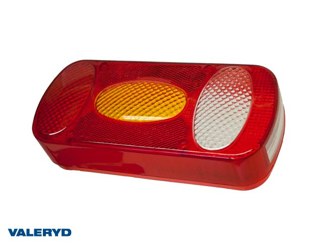 Spare lens fits Aspöck Midipoint II Right/Left Tail light 218x98x57 with reversing light