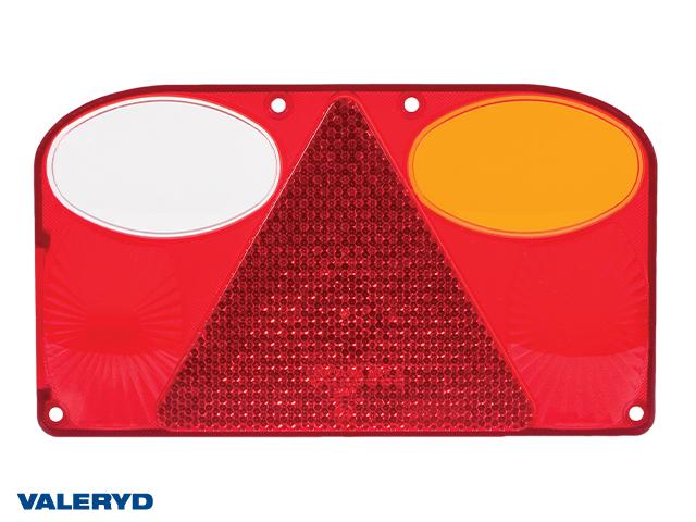 Reservglas Baklampa Hö 238x138x55 med backljus (till 3010088)