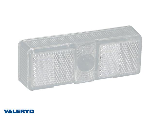 Spare lens Aspöck/SIM/Talmu position light 110x41 white with reflector