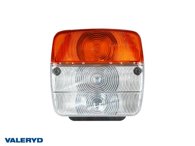 Blinkers- & Positionsljus Ajba 108x103x52 gul/vit med blinkers