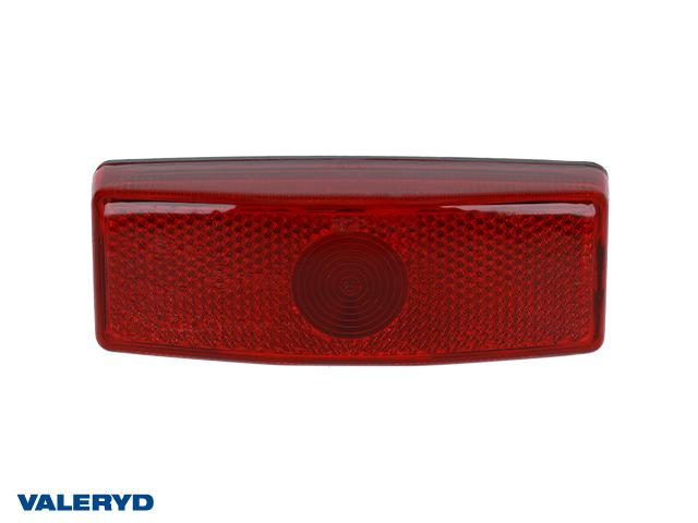 Positionsljus Ajba 110x42x24 röd med reflex