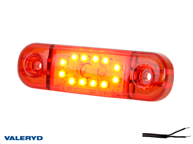LED Side marking light WAŚ 83,8x24,2x10,4 red 230mm Cable
