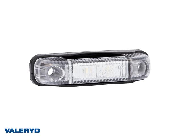 LED Positionsljus Valeryd 80x18x23 vit 12-30V inkl. 450 mm kabel