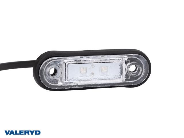 LED Positionsljus Valeryd 78x22x18 röd 12-30V med reflex inkl. 450 mm kabel