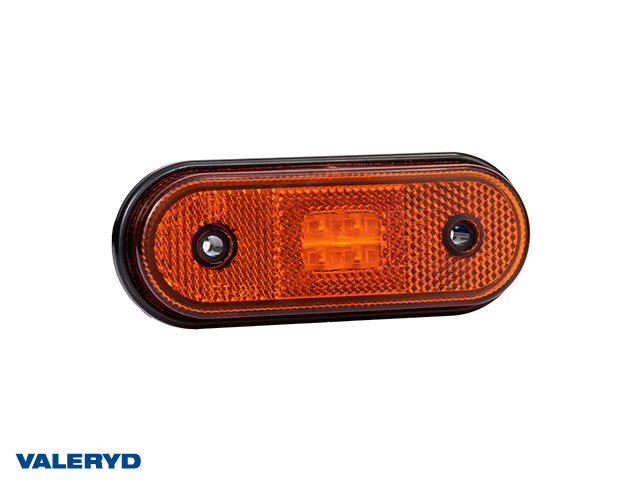 LED Positionsljus Valeryd 120x46x18 röd 12-30V med reflex inkl. 450 mm kabel